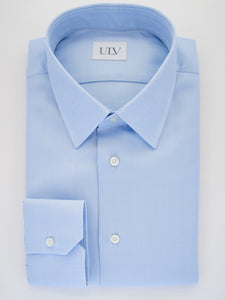 Bio-Cotton Blue Royal Twill Shirt Point Collar
