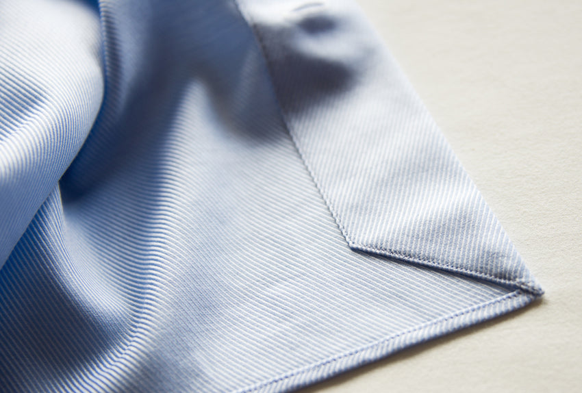 Bio-Cotton Blue Royal Twill Shirt Cutaway Collar