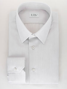 Signature Series - Grey Stripe Point Collar Shirt