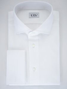 Bio-Cotton White Oxford Shirt with Double Cuff