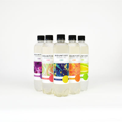 Mountjoy Sparkling CBD Assorted Flavors 16 oz 6 Pack