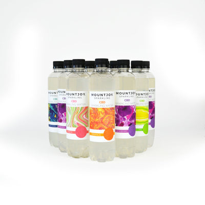 Mountjoy Sparkling CBD Assorted Flavors 16 oz 12 Pack