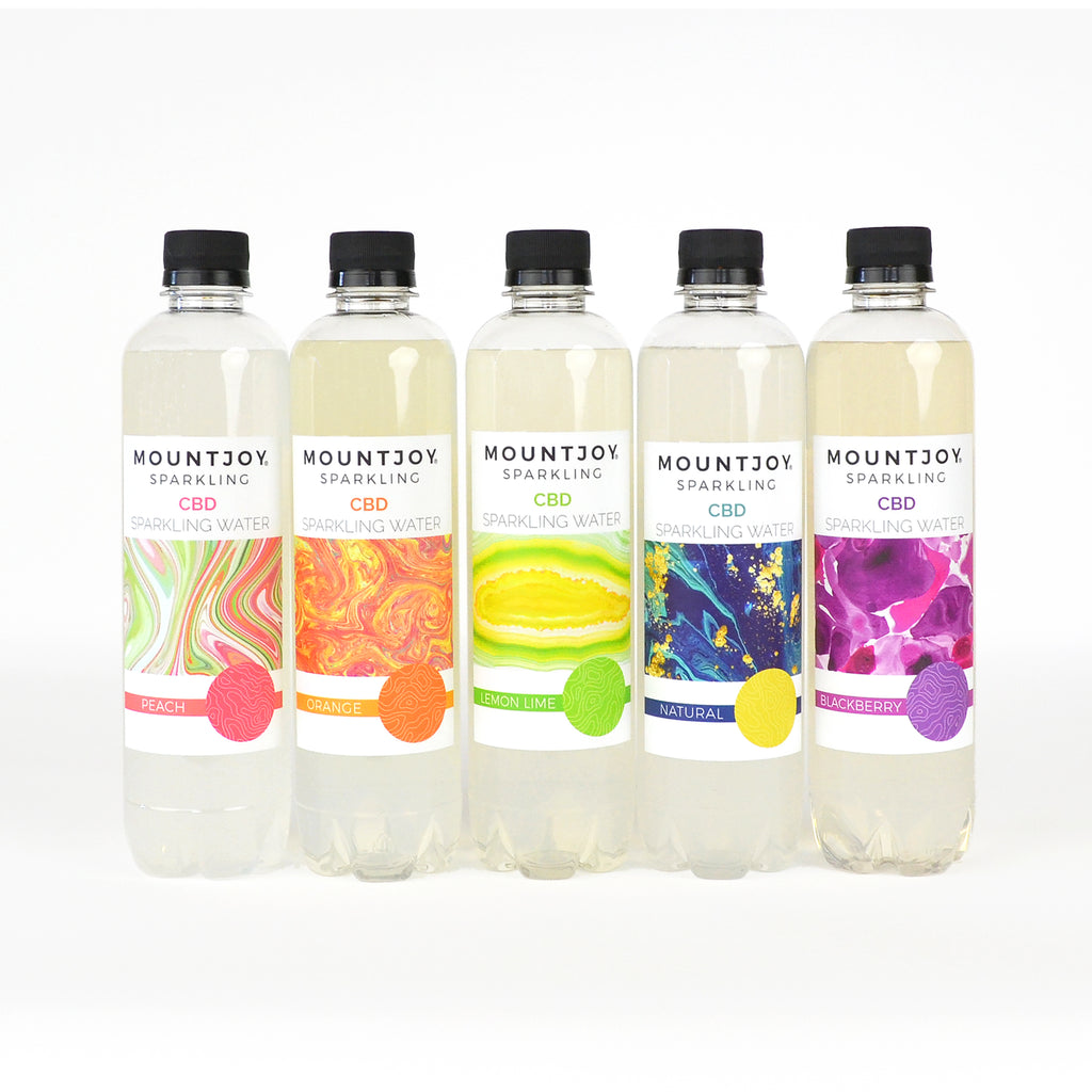 Assorted flavors 16oz Mountjoy Sparkling CBD