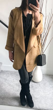 Kendall Cotton Long Cardigan Sweater Jacket Beige