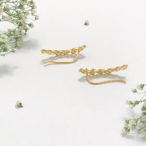 Petal Greek Goddess Crawler Earrings