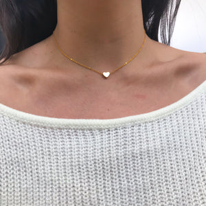 Women's Gold Heart Victoria Necklace