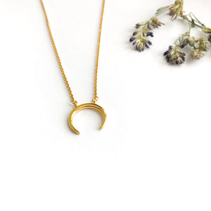Crescent Horn Necklace Victoria Collection Crescent Moon