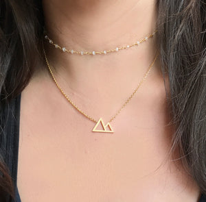 Simple Victoria Mountain Necklace