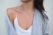 Nina Long Bar Necklace