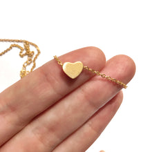 "Rose Gold ""I Heart you"" Tiny Women's Victoria Heart Necklace"