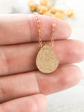 Druzy Teardrop Necklace Stardust Collection