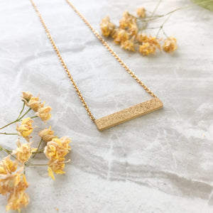 Druzy Bar Necklace Stardust Collection