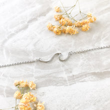Line Wave Ocean Necklace Victoria Necklace