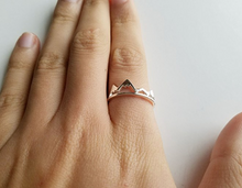 Rose Gold Victoria Mountain Ring