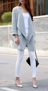 Kendall Cotton Long Cardigan Sweater Jacket