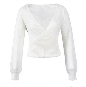 Heather Cross Snowflake Knit Sweater