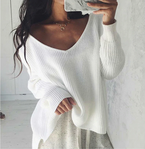 Roxanna White Off the Shoulder Knit Sweater