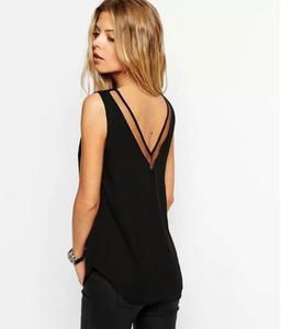 Jessica Sheer Everyday Black Top