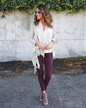 Motorcycle Jeggings Burgundy