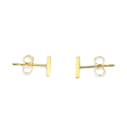 Gold Tiny Bar Balance Victoria Earrings