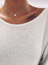 "Silver ""I Heart you"" Tiny Women's Victoria Heart Necklace"