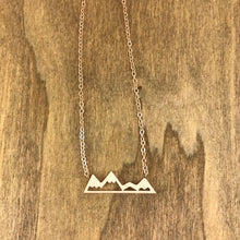 Silver Victoria Mountain Necklace