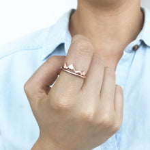 Mountain Ring - Gold Silver or Rose Gold