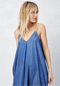 Kelsey We're Going Wine Tasting Jean Maxi Dress
