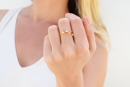Gold Victoria Mountain Ring
