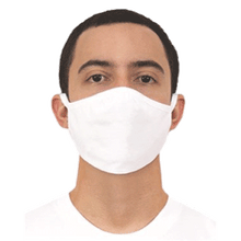 Load image into Gallery viewer, 100% Cotton White Face Mask