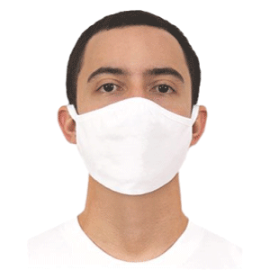 100% Cotton White Face Mask