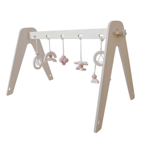 Holz Spielbogen - 1st Play Baby Gym Rose Cloud