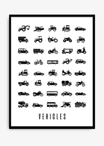 Vehicles Poster 30x40