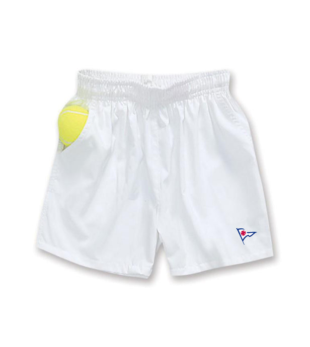 RYC Joe Puppy Boys Elastic White Tennis Short