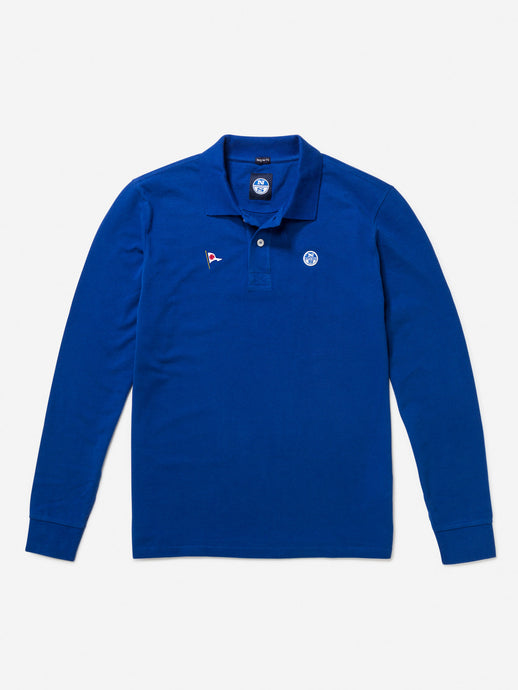North Sails Men's Long Sleeve Pique Polo
