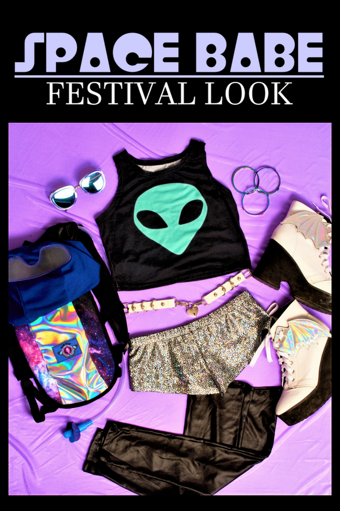 SPACE BABE FESTIVAL LOOK