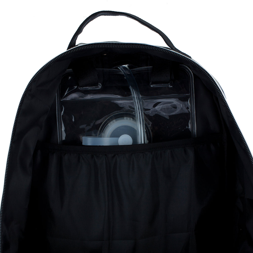 BLACK TAR LARGE BACKPACK - Dan-Pak hydration packs for raves music festivals camping hiking. Awesome gear for edm lifestyle. Hydro pack, water pack, dan-pack, dan pak, dan pack, danpakbags, dan pak bags, backpack, rave