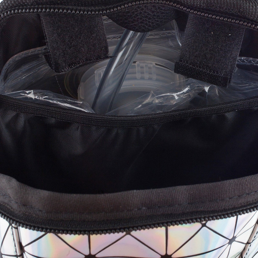 Holographic Disco Mini - Dan-Pak hydration packs for raves music festivals camping hiking. Awesome gear for edm lifestyle. Hydro pack, water pack, dan-pack, dan pak, dan pack, danpakbags, dan pak bags, backpack, rave