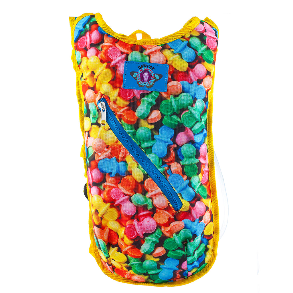 CANDY LAND - Dan-Pak hydration packs for raves music festivals camping hiking. Awesome gear for edm lifestyle. Hydro pack, water pack, dan-pack, dan pak, dan pack, danpakbags, dan pak bags, backpack, rave