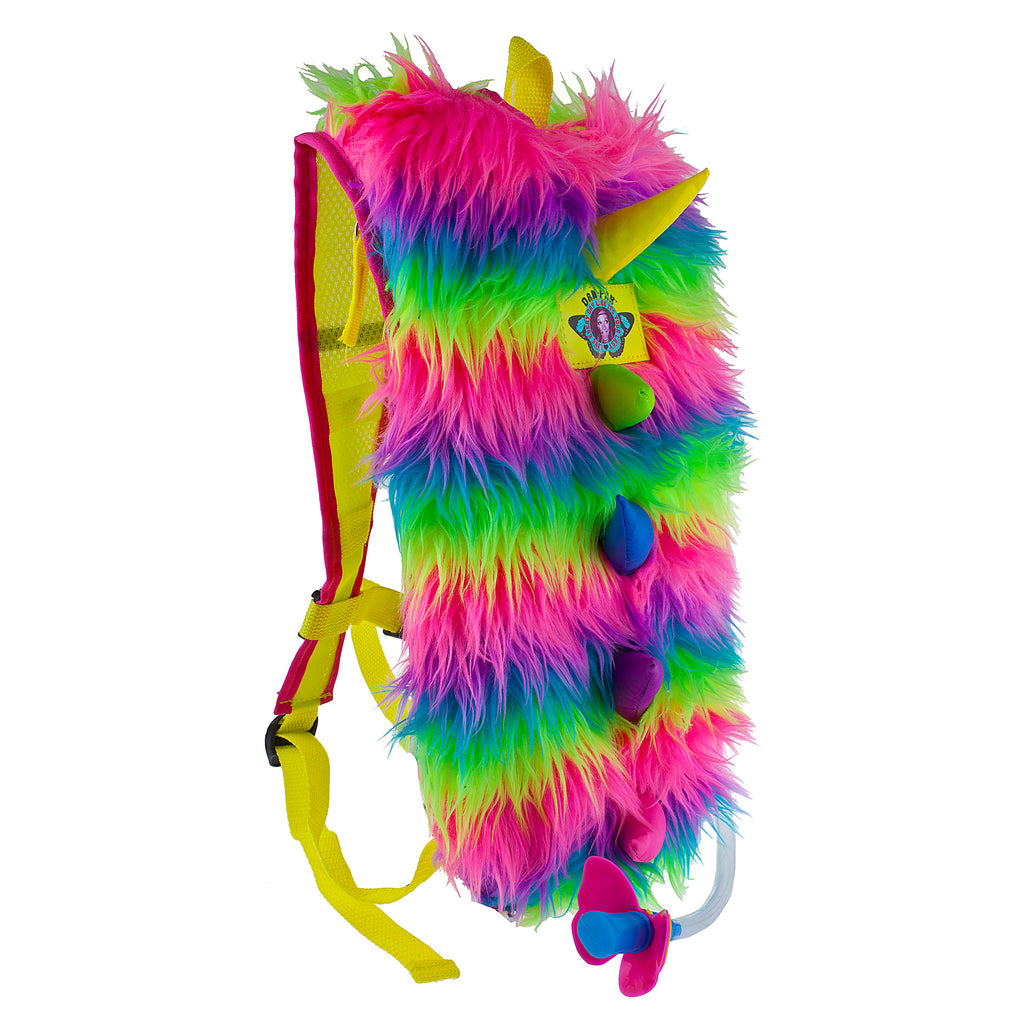 FURRY MONSTER -NEW COLORS! - Dan-Pak hydration packs for raves music festivals camping hiking. Awesome gear for edm lifestyle. Hydro pack, water pack, dan-pack, dan pak, dan pack, danpakbags, dan pak bags, backpack, rave