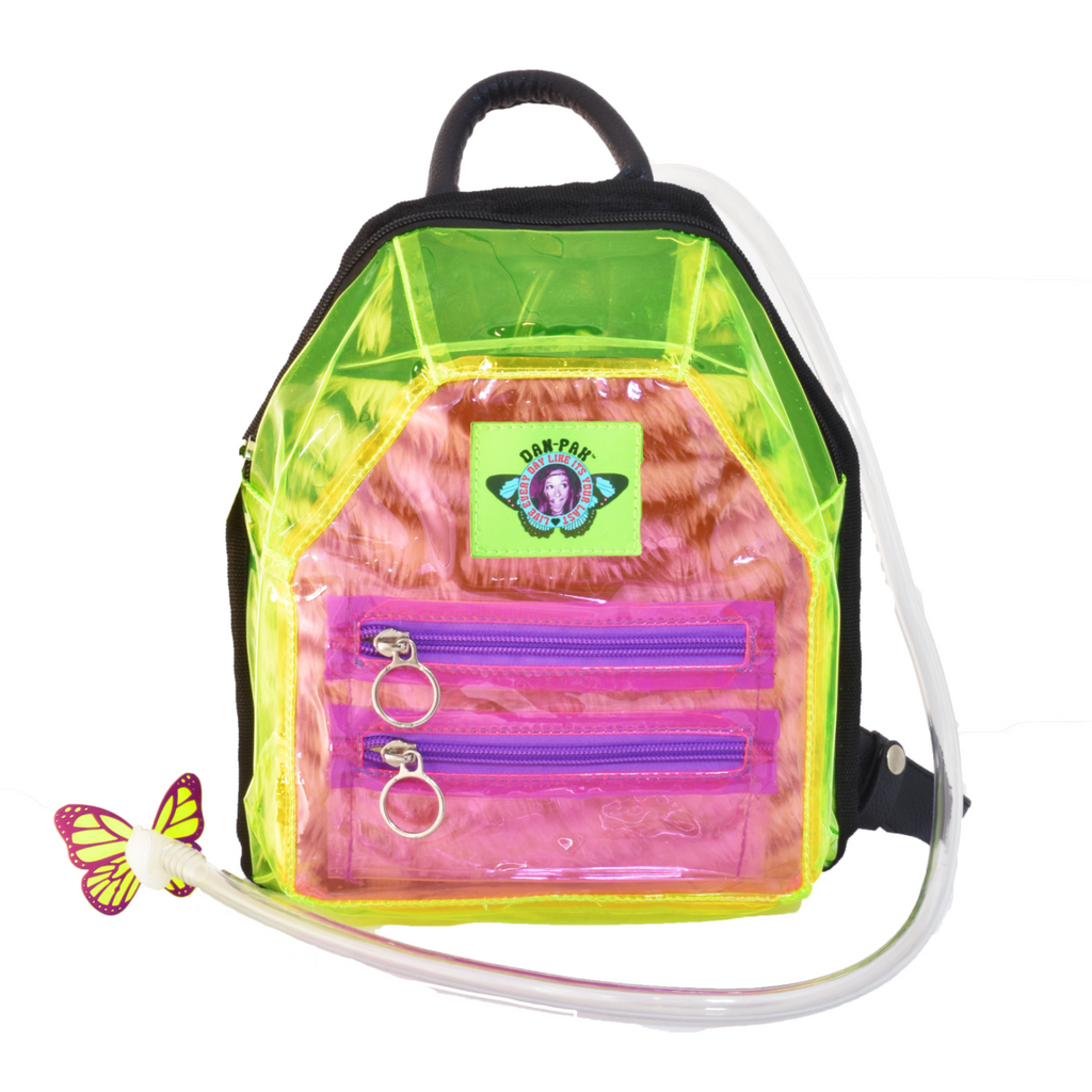 CLEARLY FURRY MINI HYDRATION PACK (PINK)