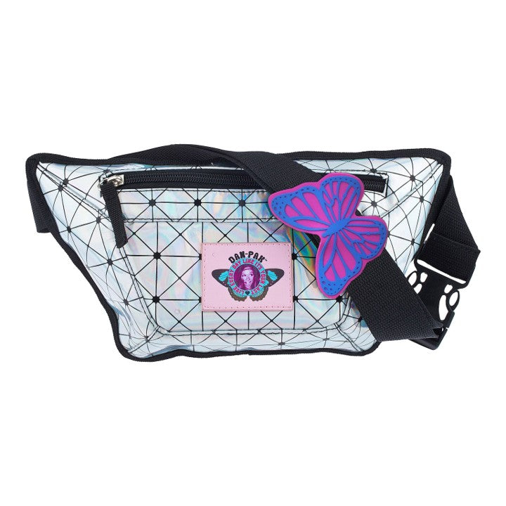 HOLOGRAPHIC FLASK FANNY PACK - Dan-Pak hydration packs for raves music festivals camping hiking. Awesome gear for edm lifestyle. Hydro pack, water pack, dan-pack, dan pak, dan pack, danpakbags, dan pak bags, backpack, rave