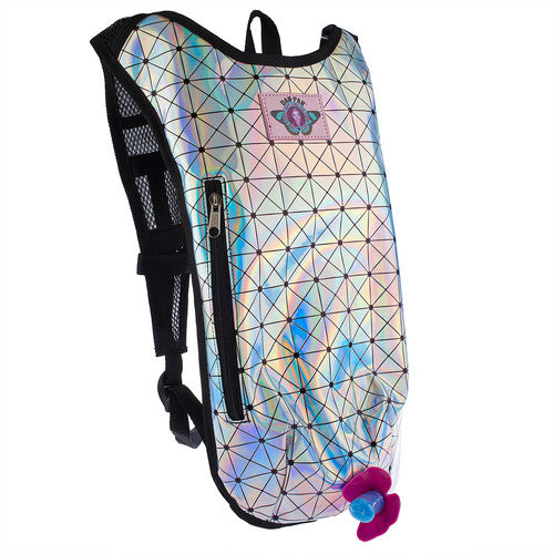 HOLOGRAPHIC DISCO - Dan-Pak hydration packs for raves music festivals camping hiking. Awesome gear for edm lifestyle. Hydro pack, water pack, dan-pack, dan pak, dan pack, danpakbags, dan pak bags, backpack, rave