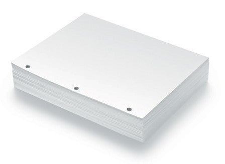 Standard Three-Hole Punched Braille Paper