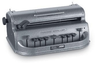 Gray Large Cell Perkins Brailler