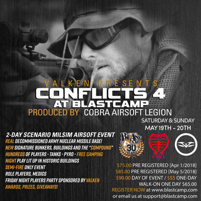 Conflicts 4 sponsored by Valken Sports