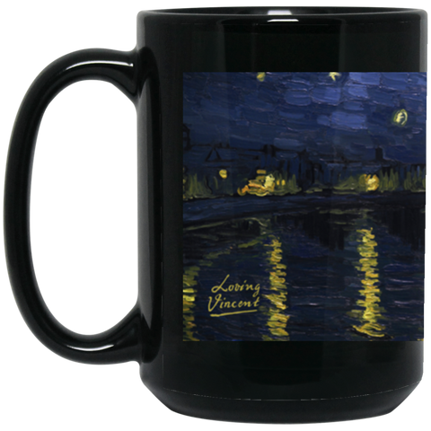 Starry BM15OZ 15 oz. Black Mug