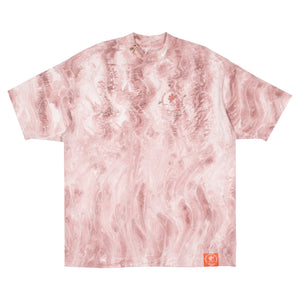 Short Sleeve Marble Dyed Tee