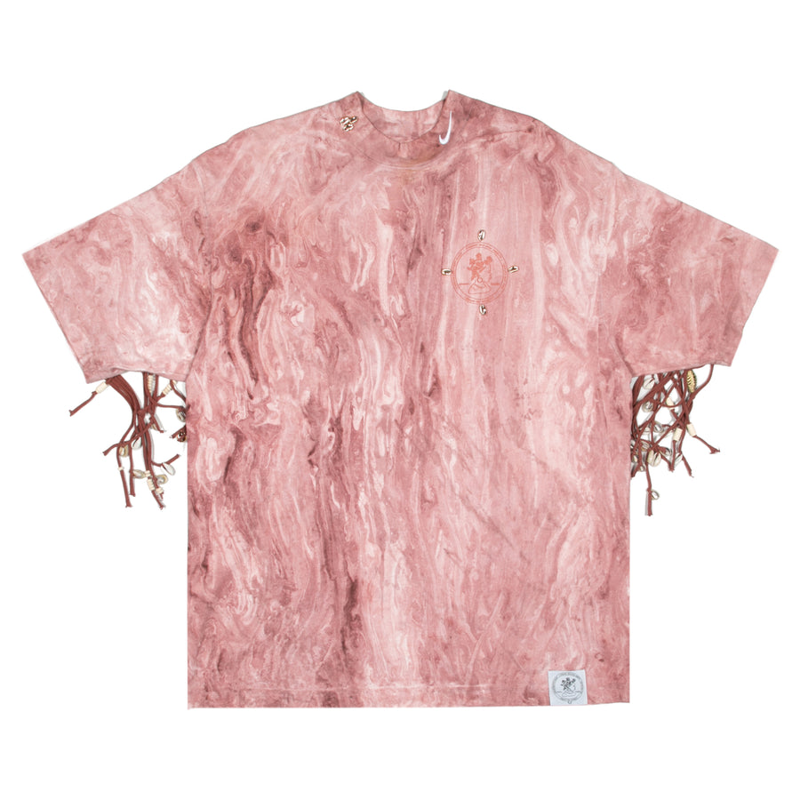 Bephie Marble Dyed Fringe Tee