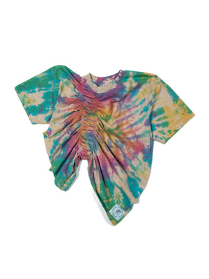 Rainbow Dyed Half Scrunch Tee